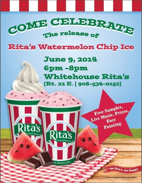 Rita's Watermelon Chip Ice Celebration